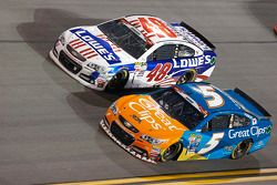 Jimmie Johnson, Hendrick Motorsports Chevrolet et Kasey Kahne, Hendrick Motorsports Chevrolet