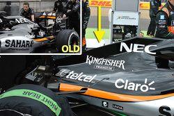 Análisis técnico: cubierta del motor de Force India