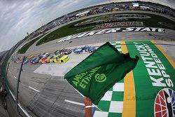 Tyler Reddick, Brad Keselowski Racing Ford leads