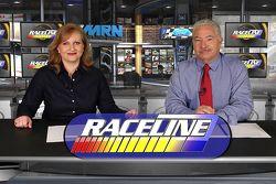 En el set de Raceline con Tiffany Ricardo y Joe Moore