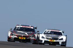 Tom Blomqvist, BMW Team RBM BMW M4 DTM, et Maximilian Götz, Mücke Motorsport Mercedes-AMG C 63 DTM