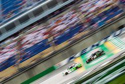Ty Dillon, Richard Childress Racing Chevrolet and Kyle Busch, Joe Gibbs Racing Toyota