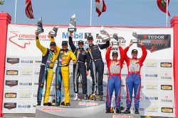 Podium: Race winners #158 Multimatic Motorsports Ford Mustang Boss 302R: Jade Buford, Austin Cindric, second place #13 Rum Bum Racing Porsche 911: Matt Plumb, Hugh Plumb and third place #6 Stevenson Motorsports Chevrolet Comaro Z/28.R: Andrew Davis, Robin Liddell