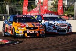Shane van Gisbergen, Tekno Autosports Holden and Dale Wood, Brad Jones Racing Holden