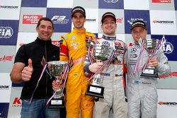 Podium: Max Papis and second place Antonio Giovinazzi, Jagonya Ayam with Carlin and winner Markus Po