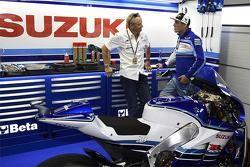 Kevin Schwantz et Aleix Espargaro, Team Suzuki MotoGP