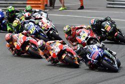 Départ : Jorge Lorenzo, Yamaha Factory Racing prend la tête