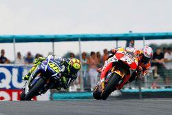 Dani Pedrosa, Repsol Honda Team et Valentino Rossi, Yamaha Factory Racing