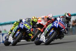 Jorge Lorenzo and Valentino Rossi, Yamaha Factory Racing and Dani Pedrosa, Repsol Honda Team
