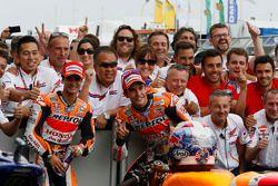Segundo colocado Dani Pedrosa e o vencedor Marc Marquez, Repsol Honda Team
