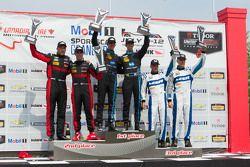 Prototip Podyum: Yarışın kazananı #10 Wayne Taylor Racing Corvette DP: Ricky Taylor, Jordan Taylor,
