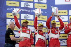 GTE podium: second place Duncan Cameron, Matt Griffin, Aaron Scott