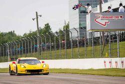 #3 Corvette Racing Chevrolet Corvette C7.R: Jan Magnussen, Antonio Garcia takes the checkered flag