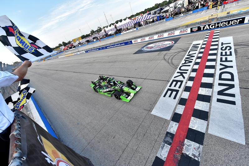 Sébastien Bourdais, KV Racing Technology Chevrolet remporte la course