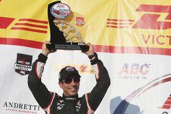 Second place Helio Castroneves, Team Penske Chevrolet
