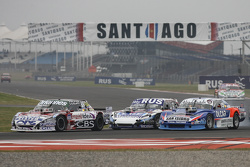 Camilo Echevarria, Coiro Dole Racing Torino and Gabriel Ponce de Leon, Ponce de Leon Competicion Ford and Matias Rodriguez, UR Racing Dodge