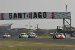 Mariano Werner, Werner Competicion Ford and Facundo Ardusso, Trotta Competicion Dodge and Agustin Canapino, Jet Racing Chevrolet and Juan Marcos Angelini, UR Racing Dodge