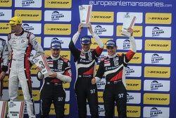 Подиум: Кирилл Ладыгин, Михаил Алёшин, Антон Ладыгин, BR01-Nissan, SMP Racing