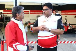 Dilbagh Gill, Team Principal of Mahindra Racing with Anand Mahindra