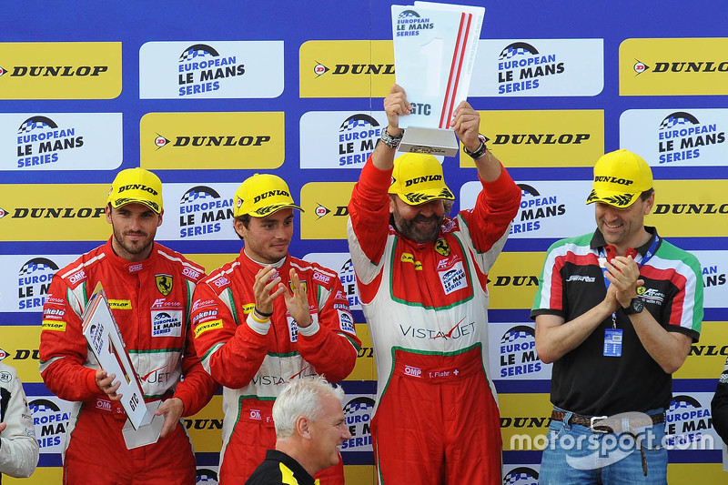 GTC podium: winners Thomas Flohr, Stuart Hall, Francesco Castellacci
