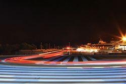 Acción nocturna de la carrera