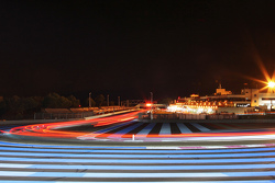Night racing action