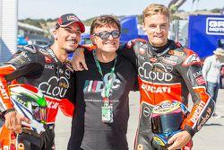 Davide Giugliano, Ducati Team and Chaz Davies, Ducati Team