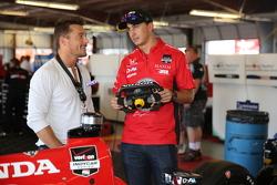 Chris Soules du Bachelor et Graham Rahal, Rahal Letterman Lanigan Racing