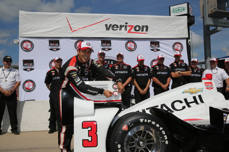 Polesitter Helio Castroneves, Team Penske