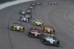 Will Power, Team Penske Chevrolet y Sage Karam, Chip Ganassi Racing Chevrolet y Marco Andretti, Andr