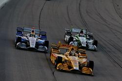 Ryan Hunter-Reay y Justin Wilson and Carlos Munoz, Andretti Autosport Hondas