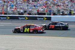 Jeff Gordon, Hendrick Motorsports Chevrolet y Martin Truex Jr., Furniture Row Racing Chevrolet