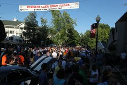 Crowded Streets for the Race Car Concours