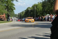 Race cars parade into Elkhart Lake for the concours Audi R8 LMS