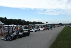 CanAm cars await their qualifying race