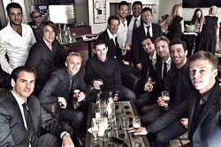 Drivers celebrate Jules Bianchi's life after his funeral service: Adrian Sutil, Roberto Mehri, Max C