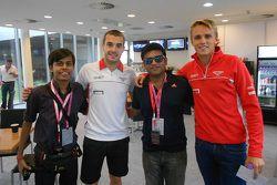 Darshan Chokhani, Jules Bianchi and Max Chilton