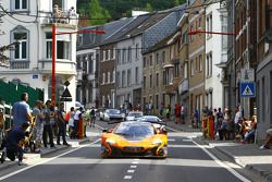 Cars drive to Spa