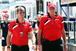 Graeme Lowdon, Manor F1 Team Director Ejecutivo con John Booth, Manor F1 Team director del equipo