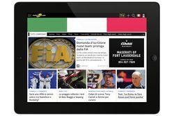 Motorsport.com - Capture d'écran de la version italienne