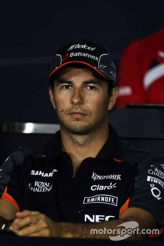 Sergio Perez, Sahara Force India F1 in the FIA Press Conference