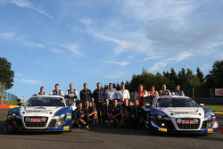 Equipos de Audi sesión de fotos