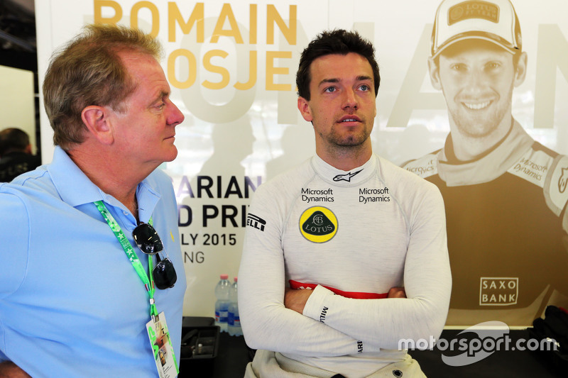 Jonathan Palmer, with his son Jolyon Palmer, Lotus F1 Team Test and Reserve Driver