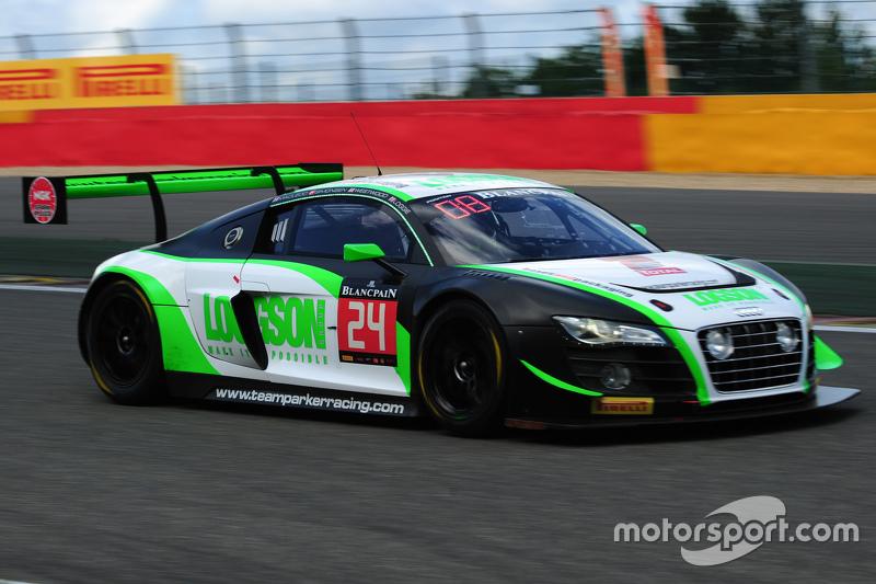 #24 Team Parker Racing Audi R8 LMS Ultra: Ian Loggie, Julian Westwood, Benny Simonsen, Callum Macleo