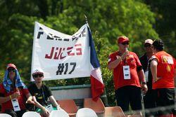 Banner em tributo a Jules Bianchi