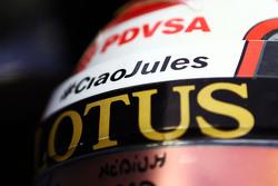 Helm Pastor Maldonado, Lotus F1 Team dengan tribut untuk Jules Bianchi