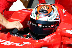 Kimi Raikkonen, Ferrari SF15-T with a tribute to Jules Bianchi