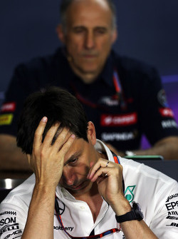 Toto Wolff, Pemegang Saham dan Executive Director Mercedes AMG F1 dalam Konferensi Pers FIA