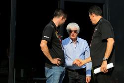 Bernie Ecclestone, and Federico Gastaldi, Team Manager, Lotus F1 Team