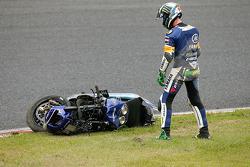 #21 Yamaha: Pol Espargaro involved in a crash